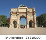 the triump arch at the louvre... | Shutterstock . vector #16615300