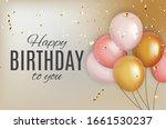 color glossy happy birthday... | Shutterstock . vector #1661530237