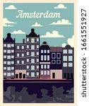 Retro Poster Amsterdam City...