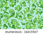 antique paper with floral... | Shutterstock . vector #16615567