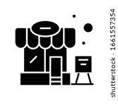 roadside cafe black icon ...   Shutterstock .eps vector #1661557354