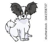 cute cartoon papillon puppy dog ...   Shutterstock .eps vector #1661558737