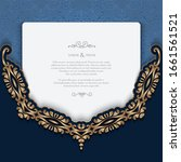 vintage gold frame with border...   Shutterstock .eps vector #1661561521