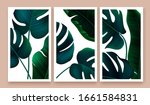 set of posters with tropical... | Shutterstock .eps vector #1661584831