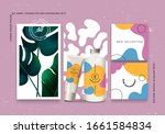 cosmetic bottles ads with... | Shutterstock .eps vector #1661584834