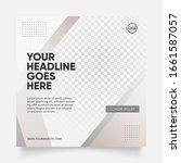 clean brown color social media... | Shutterstock .eps vector #1661587057