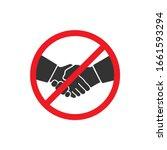 No handshake icon in a flat design. Vector illustration
