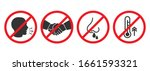 set of prohibiting icons. no... | Shutterstock .eps vector #1661593321