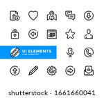 ui elements vector line icons....