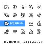 Data Security Vector Line Icons....