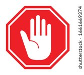 traffic sign stop. prohibition ... | Shutterstock .eps vector #1661669374