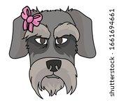 cute cartoon schnauzer dog face ...   Shutterstock .eps vector #1661694661