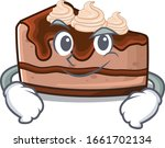 cool chocolate cheesecake... | Shutterstock .eps vector #1661702134