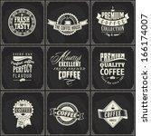 coffee logo label typography... | Shutterstock .eps vector #166174007