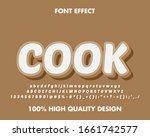 3d cartoon 'cook' text and font ... | Shutterstock .eps vector #1661742577