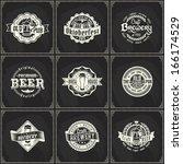 set of retro styled chalk... | Shutterstock .eps vector #166174529