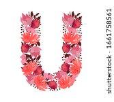 vector floral letter  capital...   Shutterstock .eps vector #1661758561