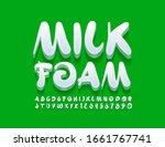 vector creative emblem milk... | Shutterstock .eps vector #1661767741