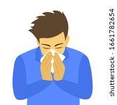 sneezing man concept vector...   Shutterstock .eps vector #1661782654
