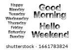 set of weekdays brush paint... | Shutterstock .eps vector #1661783824