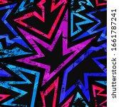 music grunge geometric seamless ...   Shutterstock . vector #1661787241