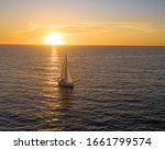 Sailboat Entering Newport Beac...