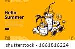 milkshake cocktails isometric...   Shutterstock .eps vector #1661816224