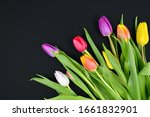Bouquet of colorful tulip...