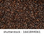 roasted coffee beans texture... | Shutterstock . vector #1661844061