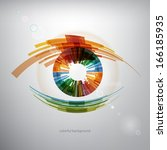 Abstract eye background - stock vector