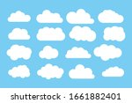 set of cloud icons vector... | Shutterstock .eps vector #1661882401