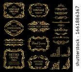 design elements gold set ...   Shutterstock .eps vector #1661886367