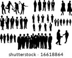 black people isolated on white | Shutterstock .eps vector #16618864