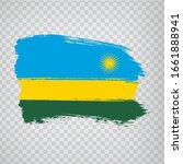 flag of rwanda from brush...