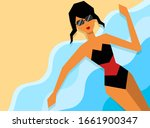 young beautiful latin girl with ... | Shutterstock .eps vector #1661900347
