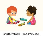 illustration of cute boy and... | Shutterstock .eps vector #1661909551