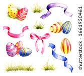 watercolor drawing easter set ...   Shutterstock . vector #1661930461