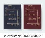 vintage luxury wedding vector... | Shutterstock .eps vector #1661933887