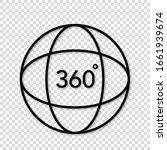 360 degree 3d virtual panorama... | Shutterstock .eps vector #1661939674