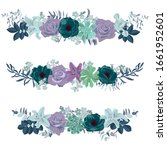 vector drawing flowers and...   Shutterstock .eps vector #1661952601