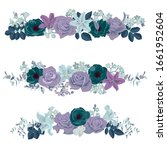 vector drawing flowers and...   Shutterstock .eps vector #1661952604
