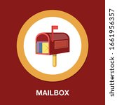 mail icon  letter message... | Shutterstock .eps vector #1661956357