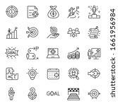 goal  icon set. achieving...   Shutterstock .eps vector #1661956984