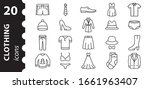 clothing linear icons in the... | Shutterstock .eps vector #1661963407