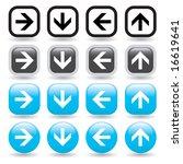 a set of directional arrow...   Shutterstock .eps vector #16619641