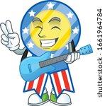 a cartoon character of usa...   Shutterstock .eps vector #1661964784
