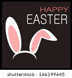 happy easter graphic design with rabbit ears