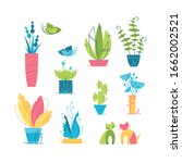 colorful vector icons' set of... | Shutterstock .eps vector #1662002521