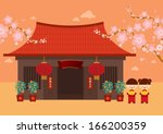 traditional chinese house... | Shutterstock .eps vector #166200359