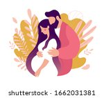 the man carefully embraced the... | Shutterstock .eps vector #1662031381